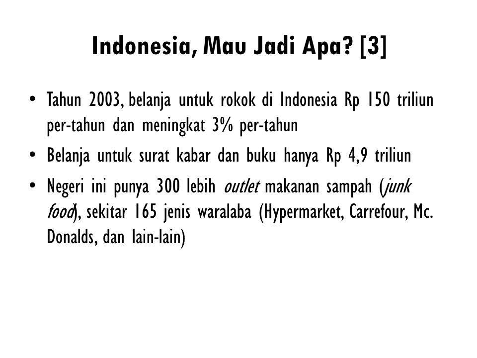 Indonesia, Mau Jadi Apa [3]